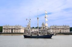 Situated on the River Thames, Maritime Greenwich is a World Heritage Site and famous for such historic landmarks as the Cutty Sark. River Thames, Tall Ships, World Heritage Sites, Past, Sailing, Old Things, College
