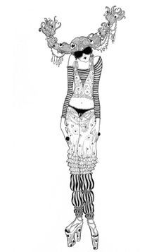 Fashionista by Sveta Dorosheva, via Behance