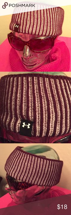 🆕 Under Armour Women's Knit Head Warmer Authentic UA Women's Knit  Head Warmer. Great for keeping your Head & Ears Warm! Actually Unisex. Wine/Tan. Ribbed. Solid Wine Border, Top & Bottom. Black Patch on the Front has White UA Logo. Grey Lining. 100% Acrylic. Brand New. Excellent Condition. No Trades. Also Available in Teal Blue/Powder Blue. See Separate Listing. Under Armour Accessories