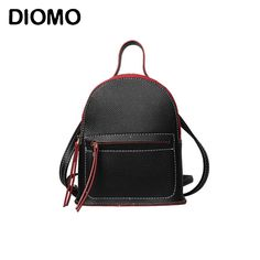 DIOMO 2017 New Arrivals mini backpack shoulder bags solid color simple shape small backpacks for girls