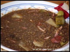 Lentejas a la Riojana, receta casera