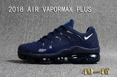 9dc3f05a880 cheap Nike Air Vapormax Plus KPU TN + 2018 Navy Blue White Black Nike Shoes