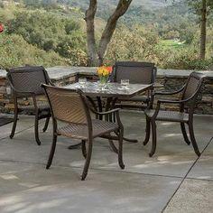 Bel Mar Woven Outdoor Dining Set | Tropitone