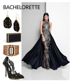 """""""Raven Queen"""" by kiwipenguin ❤ liked on Polyvore featuring Terani, Oscar de la Renta, Vince Camuto and Mixit"""