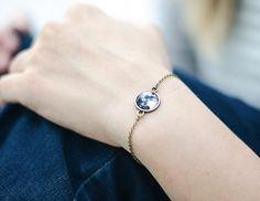 Full Moon Bracelet- Bronze Tone - Space Galaxy- Stars- Tiny Jewelry- Gifts Under 25- Last Minute Gift Idea- Solar System