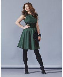 AX Paris Forest Green Lace Waist Dress