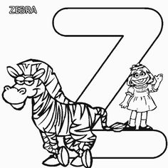 free sesame street alphabet coloring pages for preschool