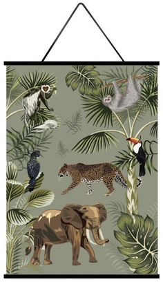 Little And Pure Poster Big Five Forest Groen Achterkant