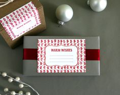 warm wishes gift labels (spring olive via felt & wire)