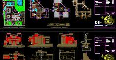 Tous les Plans (élévations et sections) d'une villa magnifique : Télécharger L'ensemble des plans villa gratuit