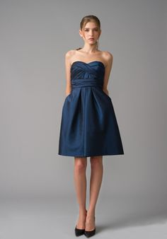 Blue Bridesmaids dress with pockets