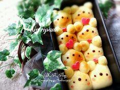 キャラパン☆カスタードクリームinラブリーくまちゃんちぎりパン |*Paradise Kitchen*