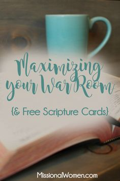Free Scripture Cards for your War Room {MissionalWomen.com}