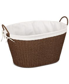 Household Essentials Paper Rope Lined Laundry Basket - Cleaning & Organization - For The Home - Macy's