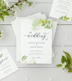 Wedding Invitation Suite with Watercolor Twigs & Leaves, Details Card, Response Card, Reception Card, Editable Template, AB05 by AliceBluefox on Etsy Rustic Wedding Menu, Wedding Menu Cards, Our Wedding, Wedding Venues, Wedding Invitation Kits, Invitation Suite, Menu Template, Card Templates, Online Print Shop