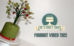 How to make a fondant wired tree cake decorating How To Tutorial Zoes Fa...