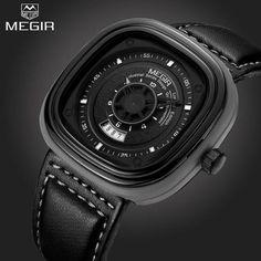Megir Luxury Square Timepiece
