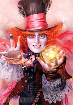 Johnny Depp as the Mad Hatter again in more vibrant colors this time for Alice Through the Looking Glass From EW.com