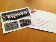 Bedankkaart schaatsclub gouda #design #thankyou #card #designbyelja #elja