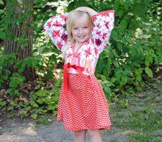 Girl's Kimono Dress Children Clothing Girl by HarmonyGirlsClothing, $49.00