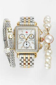 Michele Watch, Lagos Bracelet & Majorica Bracelet. Nordstrom.