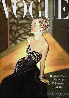 1946 Dorothy Tivis, cover photo by Horst, Vogue, September