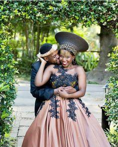 African Dresses Men, African Wedding Dress, African Weddings, African Wear, African Fashion, Zulu Traditional Attire, South African Traditional Dresses, Traditional Wedding Dresses, Wedding Attire