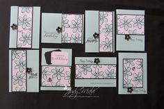 Stampin Up, One Sheet Wonder, Garden in Bloom, I cased this idea from Connie Stewart tutorial on You Tube