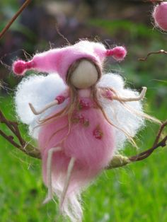 Fairy in Pink - Needle Felted
