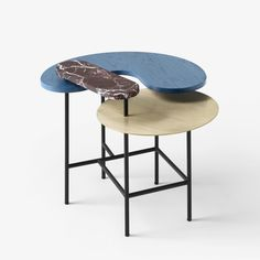 Palette Side Table, designed by Jaime Hayon for &Tradition. Palette derives inspiration from Alexander Calder's kinetic sculptures | &Tradition Palette Coffee Table Collection