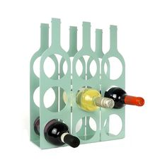 Bottle wine rack by the metal house | notonthehighstreet.com. Made in Britain £44.99 + free UK delivery Metal Sheet Design, Sheet Metal, Wine Rack Storage, Wine Racks, Metal Projects, 3d Prints, Diy Solar, Wine Bottle Crafts, Metal Fabrication