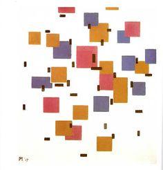 Piet Mondrian  Composition en Couleur 1917