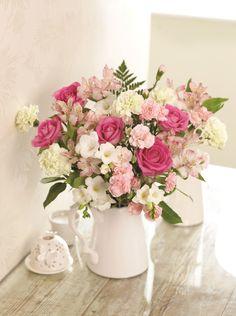 Florist's Choice Pink Bouquet My Flower, Flower Vases, Flower Arrangements, Rainbow Flowers, Pastel Flowers, Gardening Direct, Share Pictures, Pink Bouquet, Bouquets