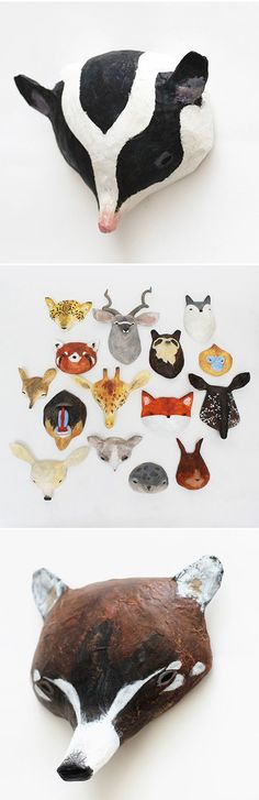 taxidermia de papel machê