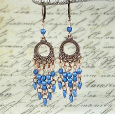 New Tutorial: Metallic Suede Earrings. Love this color! If you want to make your own pair, go here… http://bellomodo.wordpress.com/2014/11/07/metallic-suede-earrings/