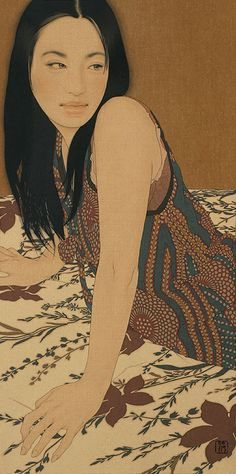 Portraits of Women by Ikenaga Yasunari... Retratos de Mujer de Ikenaga…