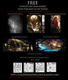 ConceptMonster Studios ebook and digital painting tutorials