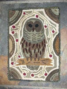 Hooked Rug ... Owl ... Marte Marshall Bordeaux's Photo