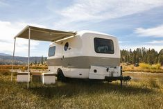 Traveler - Happier Camper New Travel Trailers, Tiny Trailers, Camping Trailers, Cool Cube, Excavator For Sale, Get Off The Grid, Small Rv, Indoor Outdoor Furniture, Unique Flooring