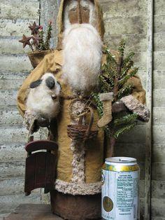 primitive santa by Sue Corlett