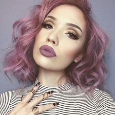 We need more girls with lavender hair @jessjanemakeup is making everyone stop and stare in our ECSTASY liquid lipstick Use codeBLACKFRIDAY for 48% off all regular priced items #gerardcosmetics