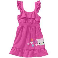 Hello Kitty Baby Girls' Ruffle Solid Dress