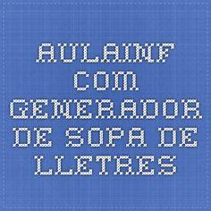 AULAINF.COM - Generador de sopa de lletres