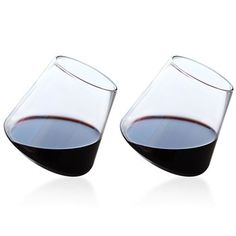 Stemless wine glasses - creates a swirling rotation when they're set down. Would be great if they weren't so expensive. House Kitchenware, Sustainable Gifts, Wine Glass Set, Stemless Wine Glasses, Cool Tools, Things To Buy, Wines, Red Wine, Cool Stuff