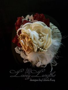 Christmas Poinsettia Headband by LaceyLengths on Etsy
