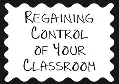 Regaining Control of Your Classroom. Sometimes we need to try something new so I'm saving this for when or if I lose it! LOL Music Classroom, Preschool Classroom, Future Classroom, Kindergarten, Classroom Ideas, Classroom Management Strategies, Behaviour Management, Class Management, Classroom Discipline