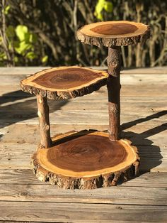 of wedding checklist Jumbo 3 Tiered Elm Wood Rustic Cake 30 Cupcake Stand Collapsible Wedding party donut outdoor wedding log lumberjack shower wooden 3 tiered Diy Garden Furniture, Log Furniture, Unique Furniture, Furniture Stores, Furniture Ideas, Cheap Furniture, Discount Furniture, Rustic Wood Furniture, Furniture Movers