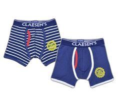 9a5548e5eeb7 Claesen's Boys Navy & Navy White Stripe Mixed Boxer 2 Pack