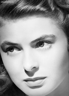 Ingrid Bergman, this reminds me of pictures of when my nana was a young girl. So pretty