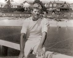 After his victory in 1946, Jack took some time off to relax at the family's summer home in Hyannis Port, Massachusetts.